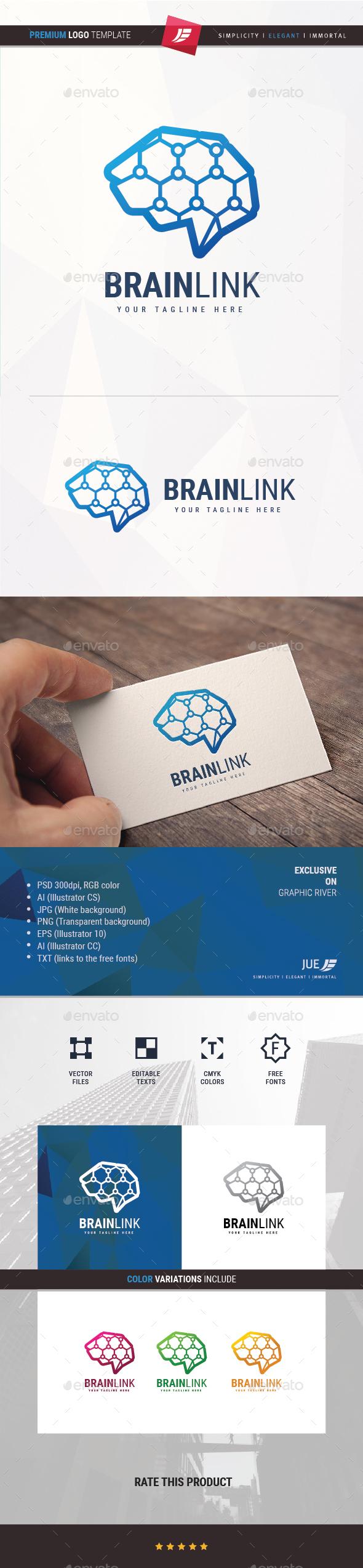 Brain Link Logo - Symbols Logo Templates