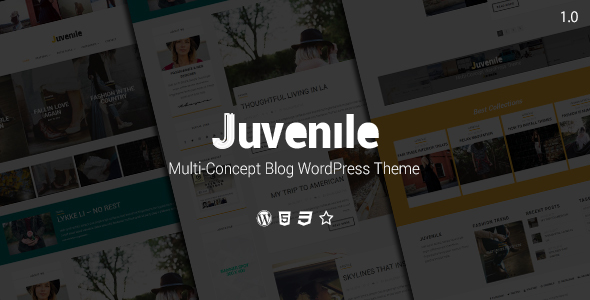 ThemeForest Juvenile Multi-Concept Blog WordPress Theme 19669580