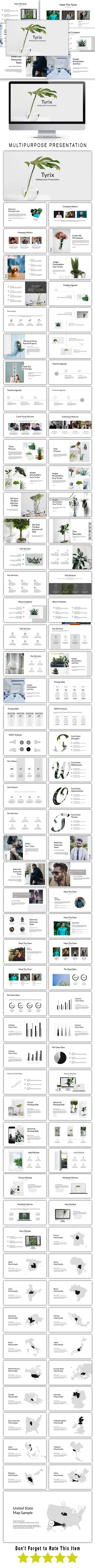 Tyrix Multipurpose Google Slide Template - Google Slides Presentation Templates