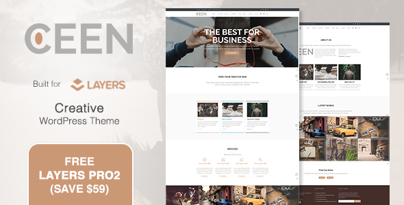 ThemeForest Ceen Business MultiPurpose WordPress Theme 20128099
