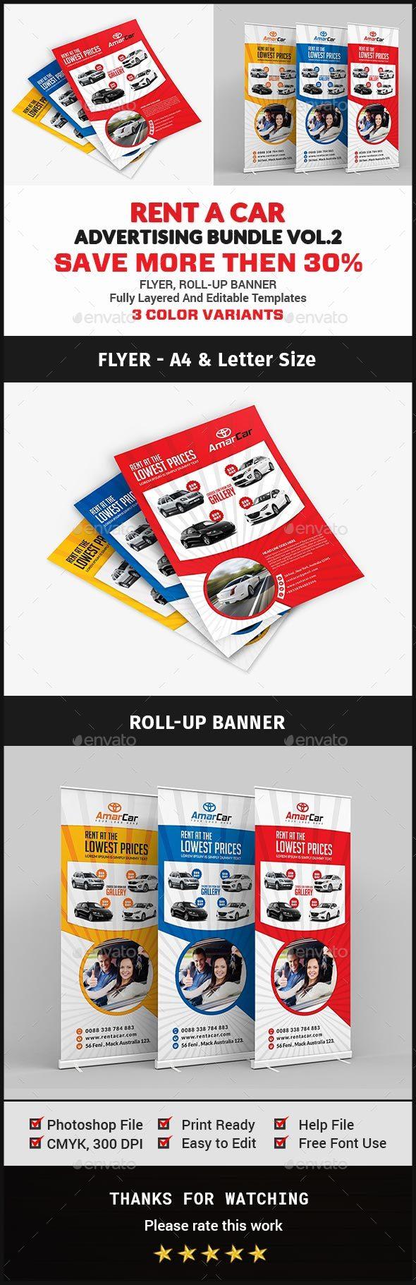 Rent A Car Advertising Bundle Vol.2 - Signage Print Templates