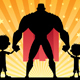 Super Dad with Two Sons - GraphicRiver Item for Sale