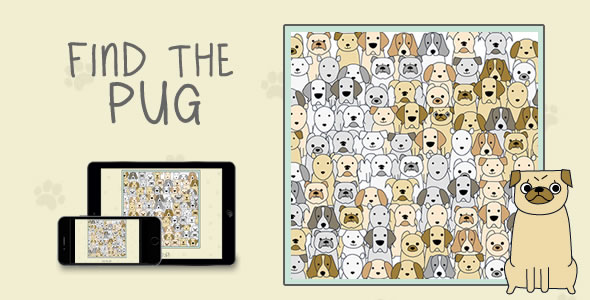 Find The Pug - HTML5 Game - CodeCanyon Item for Sale