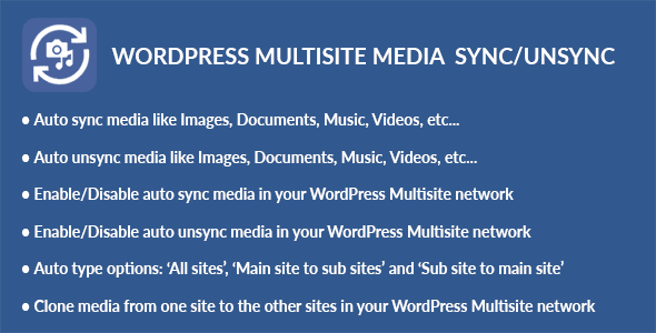 WordPress Multisite Media Sync/Unsync (Media) images