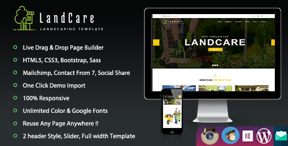LandCare – Landscaping & Gardening WordPress Theme