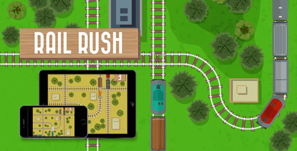 Rail Rush - HTML5 Game - CodeCanyon Item for Sale