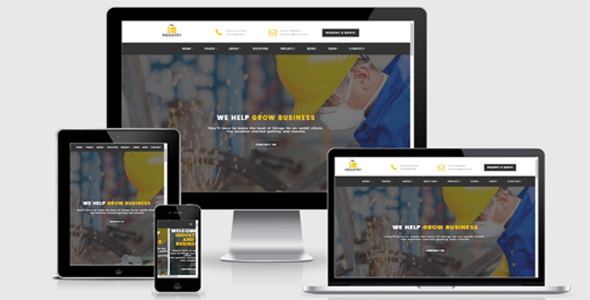 Image of Industry- Factory Html Template
