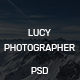 Lucy Photographer Onepage-PSD Template - ThemeForest Item for Sale