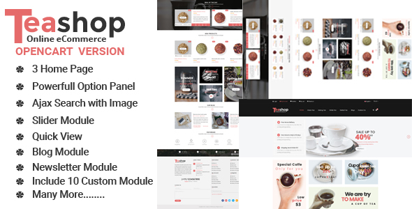 TeaShop Multipurpose OpenCart Template
