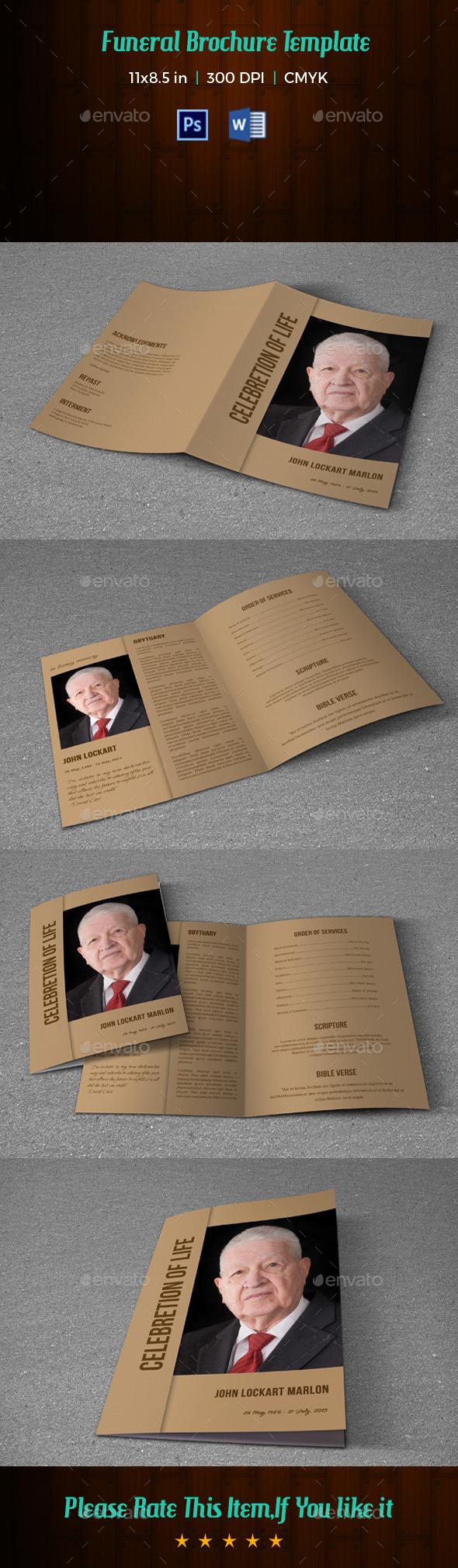 GraphicRiver Funeral Program Template V180 20257912