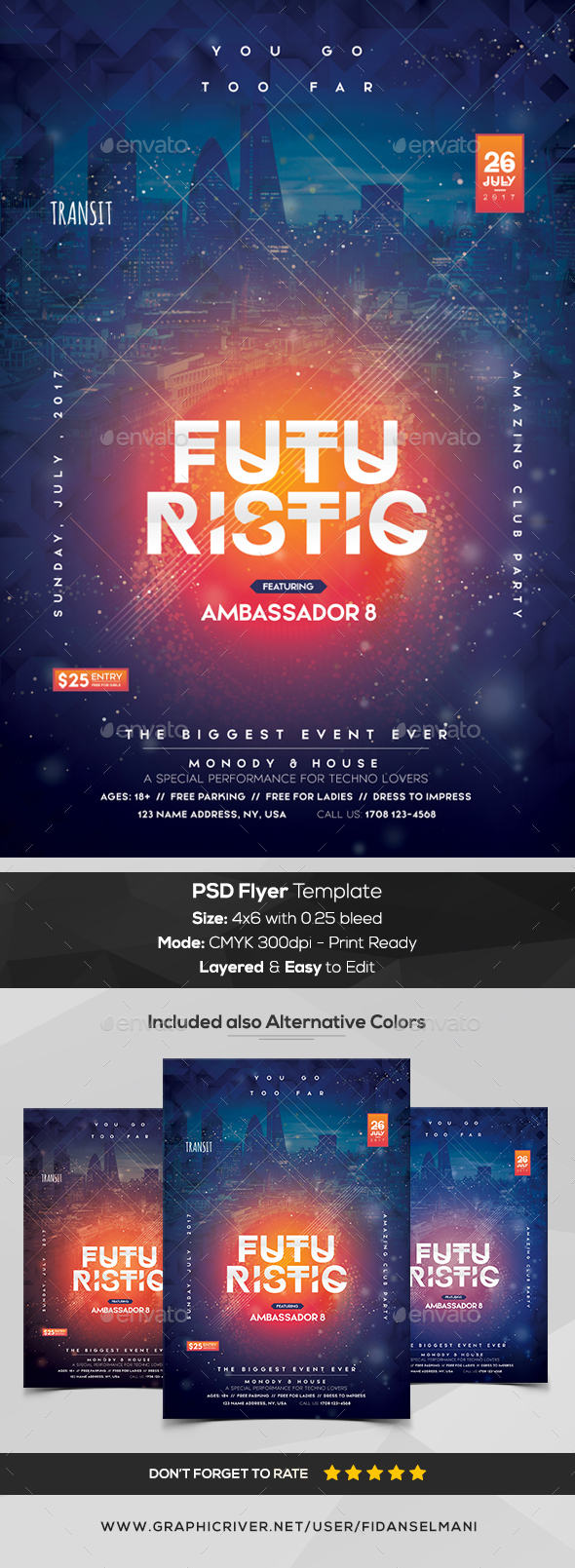 Futuristic - Premium PSD Flyer Template - Events Flyers