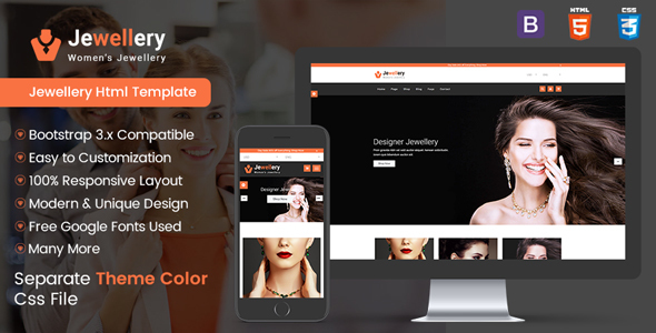 Image of Jewellery Shop - Multipurpose E-commerce Responsive Html5 template