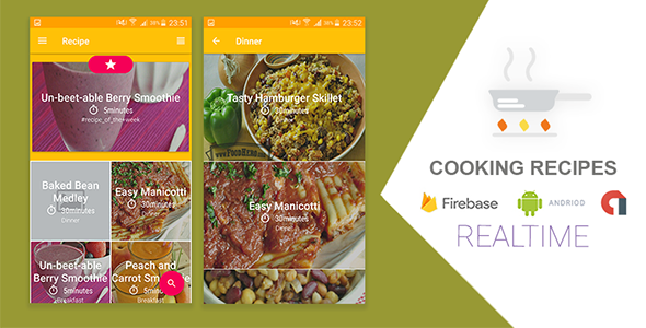 Cooking Recipes Realtime Application with Firebase - CodeCanyon Item for Sale