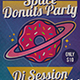 Planet Donuts Flyer Template - GraphicRiver Item for Sale