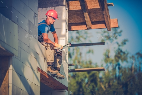 Contractor Taking Break - Stock Photo - Images