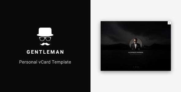 Gentleman - Personal vCard Template - Virtual Business Card Personal