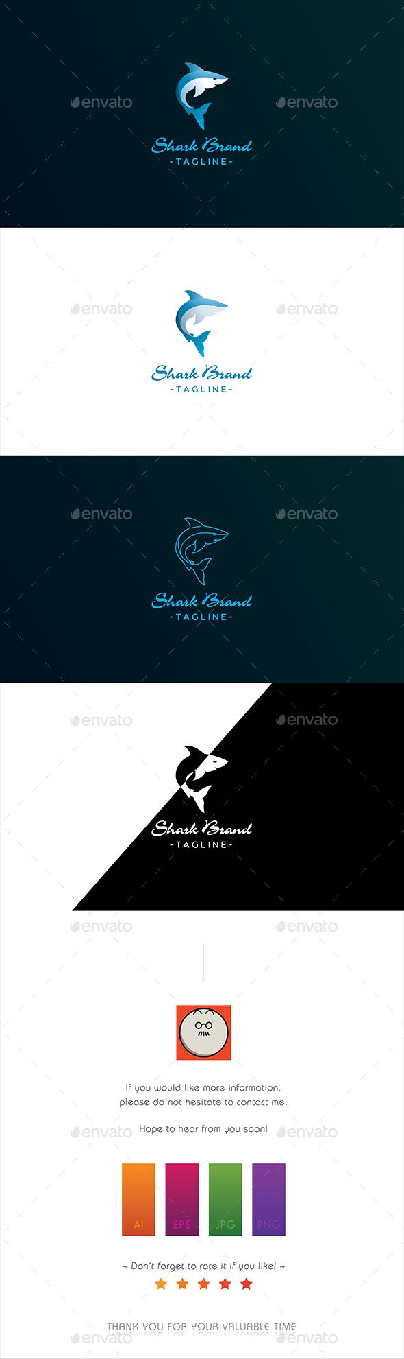 GraphicRiver Shark Brand logo 20258672
