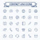 Contact Line Mini Icons. Editable Stroke. 24x24