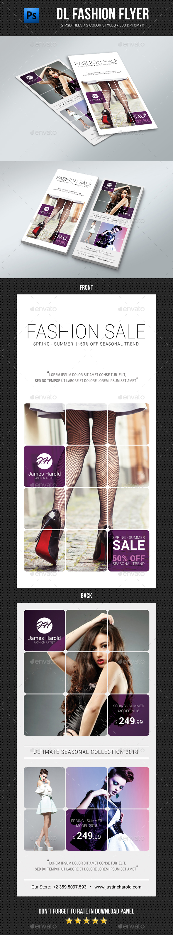 DL Fashion Flyer 04 - Commerce Flyers