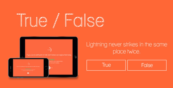 True or False - HTML5 Game - CodeCanyon Item for Sale