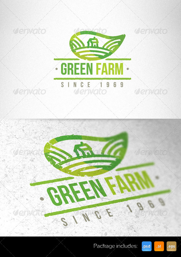 Green Farm Organic Creative Logo Template  - Nature Logo Templates