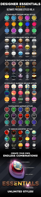 Designer Essentials Ultimate Precious Styles Vol.4 - Styles Photoshop