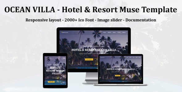 OCEAN VILLA - Hotel & Resort Muse Template