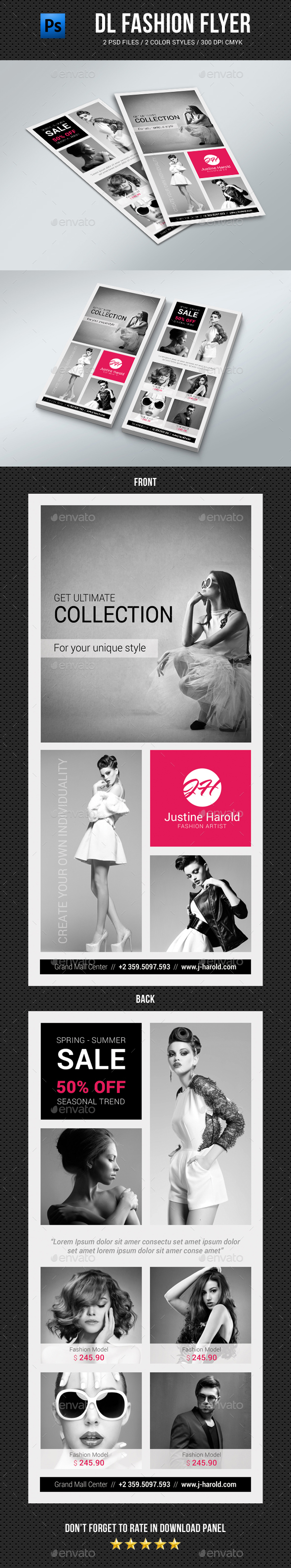DL Fashion Flyer 06 - Commerce Flyers