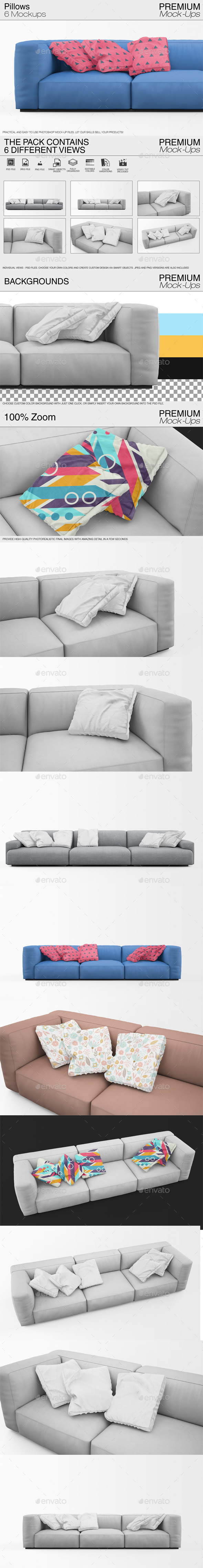 Pillow Mockups - Print Product Mock-Ups