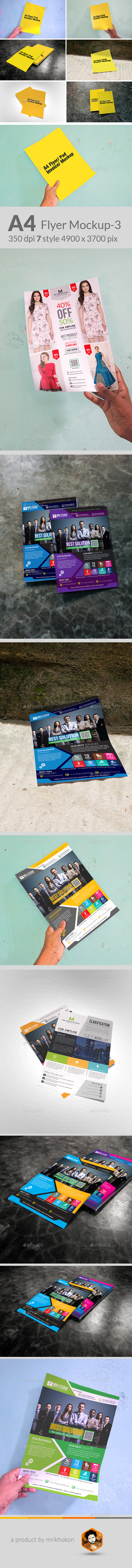 A4 Size Flyer Mock-up - Flyers Print