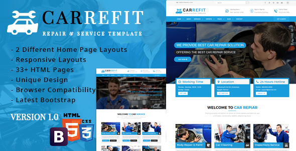 CarRefit - Repair & Services Responsive Template