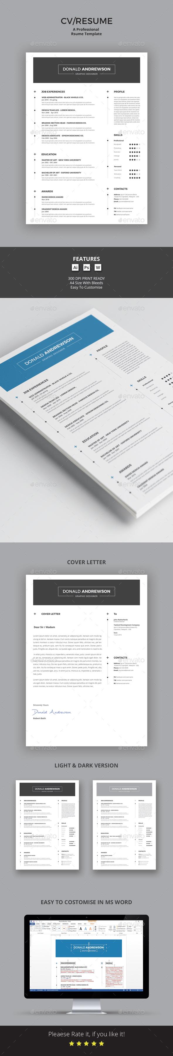 CV/Resume - Stationery Print Templates