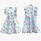 Fluffy Ice-Cream Dress - 3DOcean Item for Sale