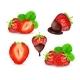 Strawberry Vector Set