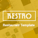 RESTRO - Responsive Cafe & Restaurant Template