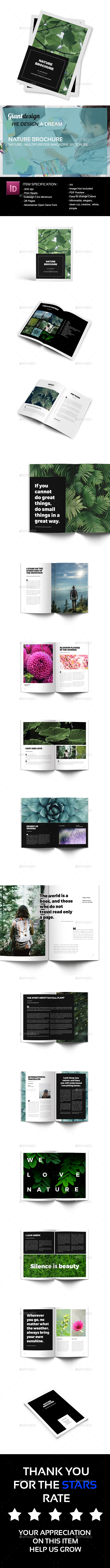 Nature - Multipurpose Magazine Brochure - Magazines Print Templates