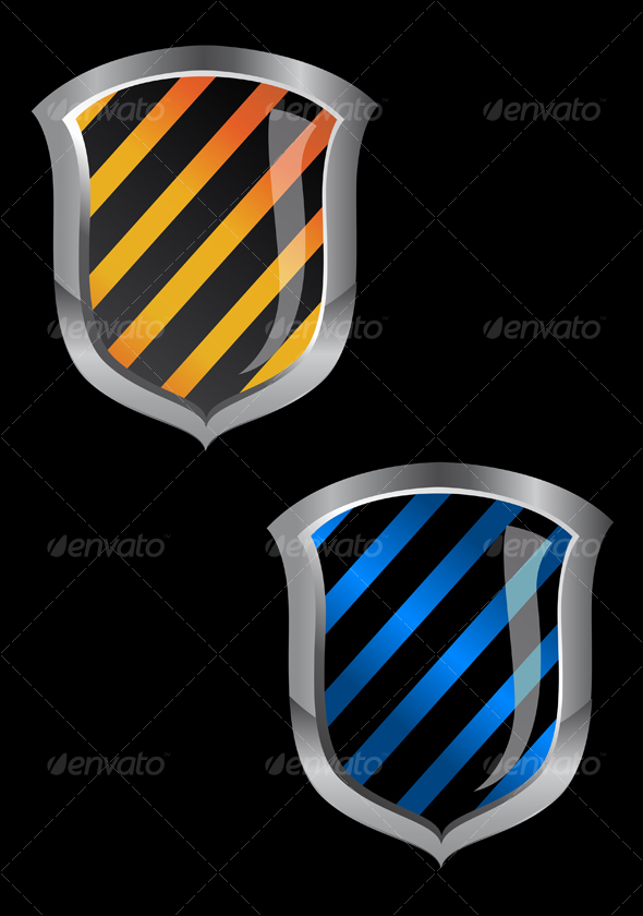 Glossy security shield - Decorative Vectors
