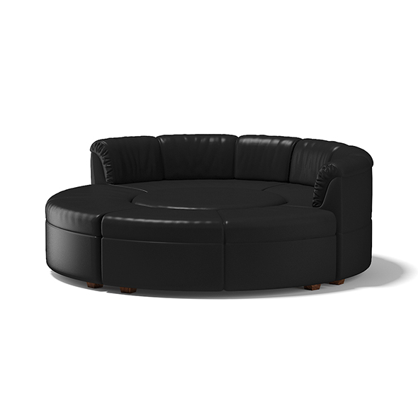 Black Round Sofa - 3DOcean Item for Sale