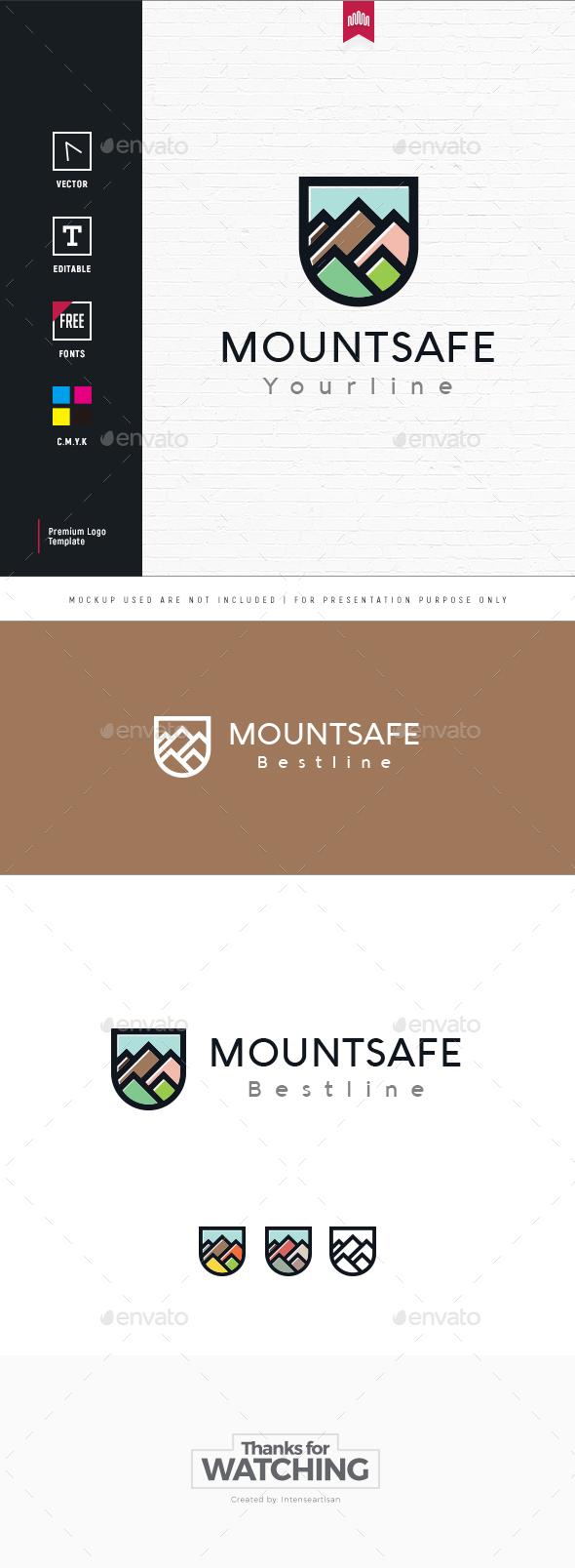 Mountain Protect Logo - Nature Logo Templates