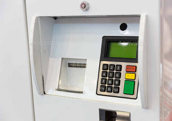 Terminal for gasoline payment - Stock Photo - Images