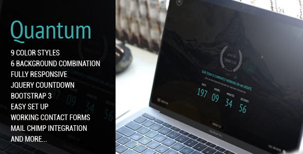Quantum | Comming Soon Responsive Theme