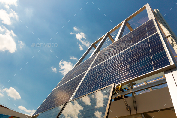 Solar panel, sun battery, alternative energy - Stock Photo - Images