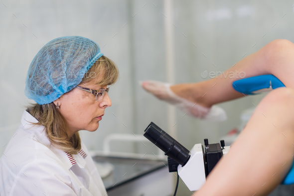 Young Female Gynecologist During Examination In Her Office - Stock Photo - Images