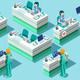 Nurse Station Vector Isometric People Medical Bundle - GraphicRiver Item for Sale