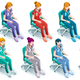 Vector Female Nurse Healthcare Isometric People Bundle - GraphicRiver Item for Sale