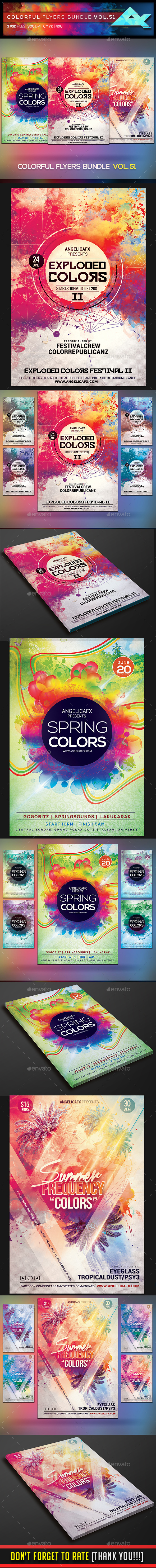 Colorful Flyers Bundle Vol. 51 - Events Flyers