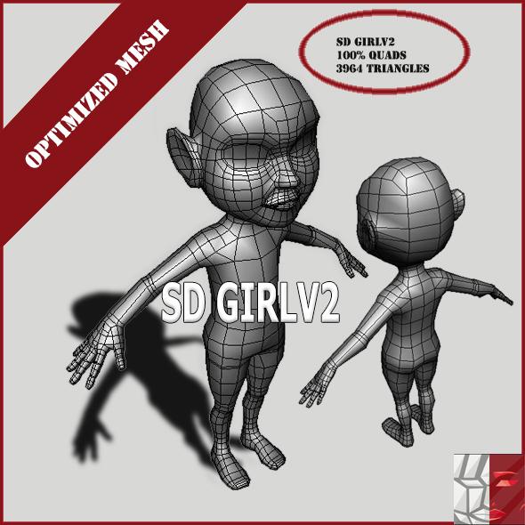 SDGirlV2 - 3DOcean Item for Sale