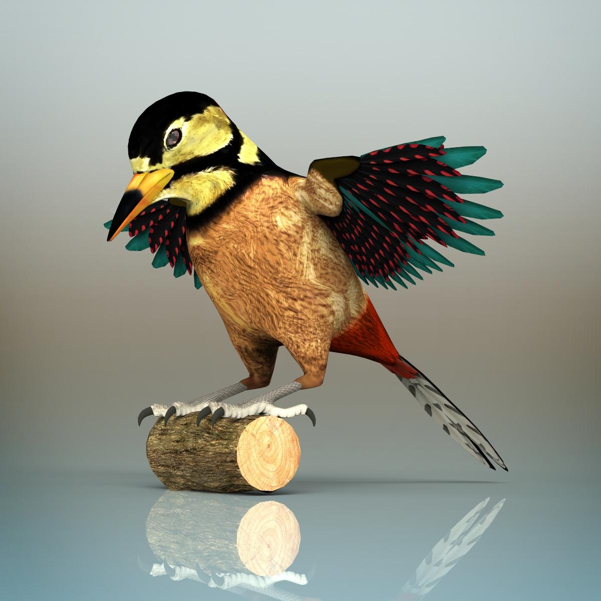 Woodpecker Bird By Deepocean3d 3docean