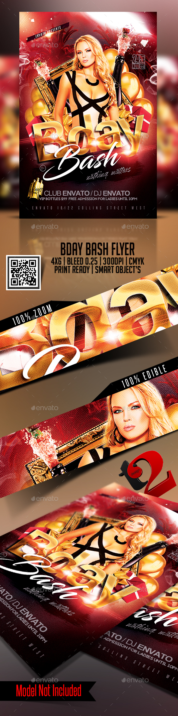 Bday Bash Flyer Template - Clubs & Parties Events