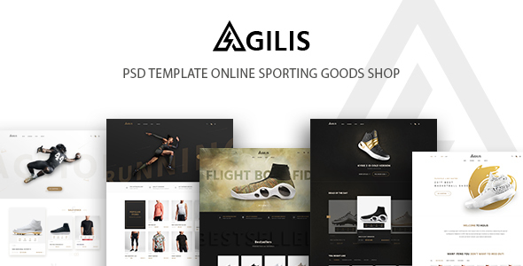 Agilis_Sport Good Store - PSD Template - Retail PSD Templates